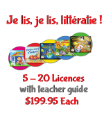 TEACHER Je Lis! Online CDN School Licence - 5+ w Teacher Guide